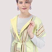 Одежда handmade. Livemaster - original item Vest cotton and wool striped. Handmade.