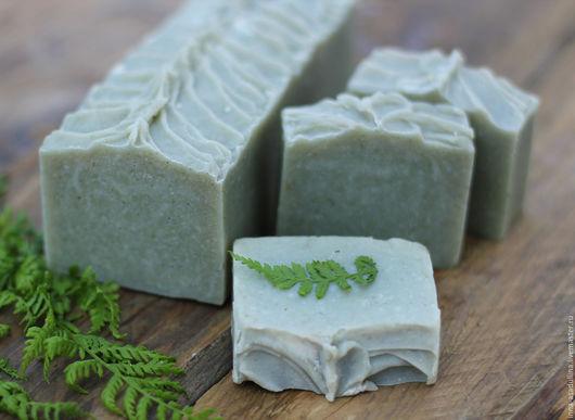 Мыло ручной работы. Ярмарка Мастеров - ручная работа. Купить Домашнее мыло с алтайской глиной и молотыми травами. Handmade. Зеленый