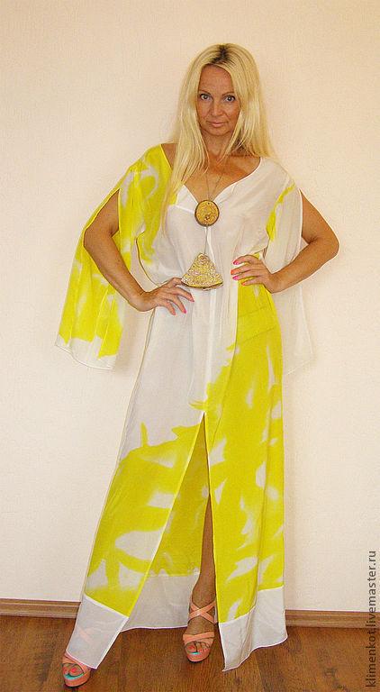Пляжные платья ручной работы. Ярмарка Мастеров - ручная работа. Купить платье-Лимонная мята. Handmade. Лимонный, платье