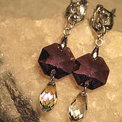 Украшения handmade. Livemaster - original item Long earrings with Swarovski crystals.. Handmade.