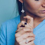 Украшения handmade. Livemaster - original item Rose quartz pyramid earrings. Handmade.
