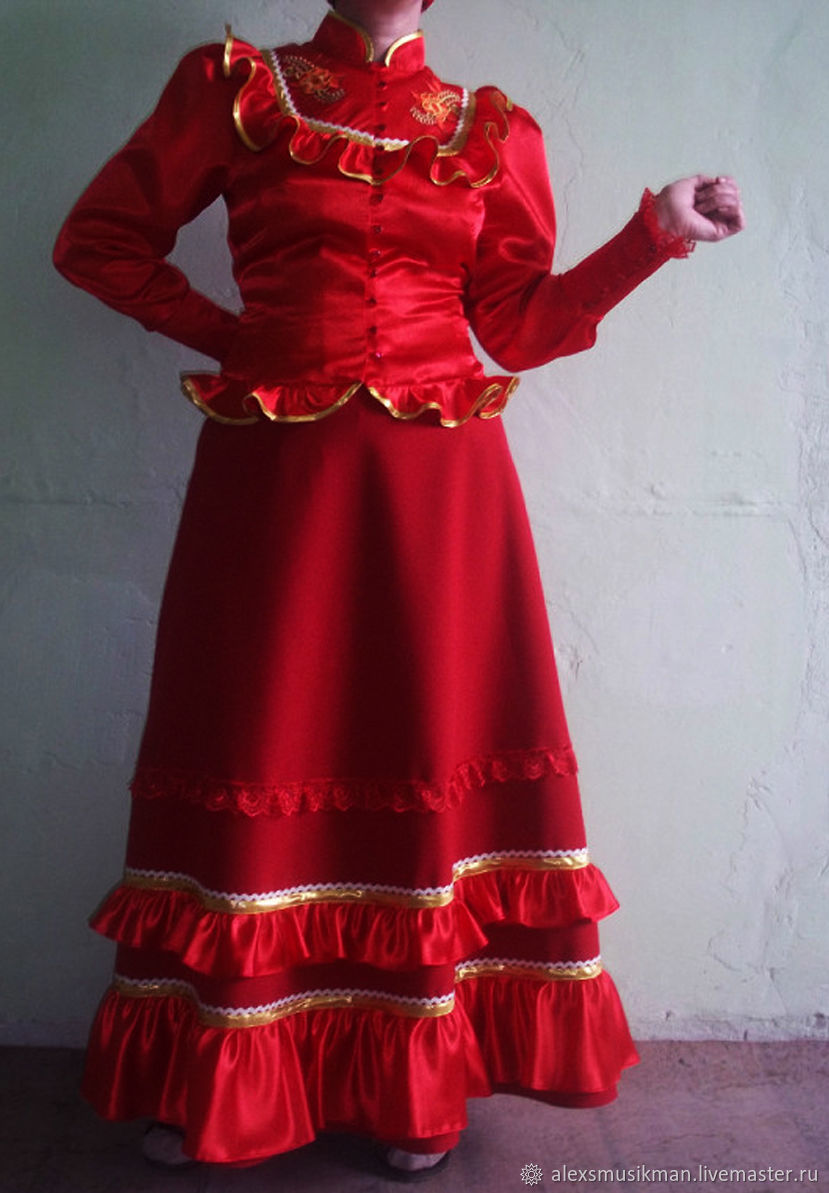Фото девушки в казачьих костюмах