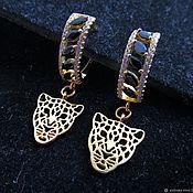 Украшения handmade. Livemaster - original item Earrings CHEETAH. Handmade.