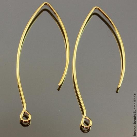 Швензы из латунной проволоки без замка с покрытием под полированное золото для сборки сережек