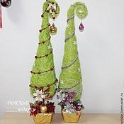 Подарки к праздникам ручной работы. Ярмарка Мастеров - ручная работа Елочка из сизаля зеленая. Handmade.