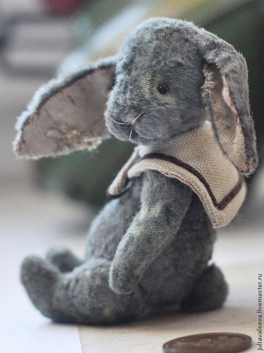 Мишки Тедди ручной работы. Ярмарка Мастеров - ручная работа. Купить Оливки, 10.5 см. Handmade. Серый, заяц