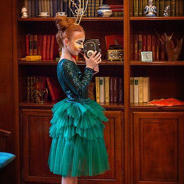 Одежда ручной работы. Ярмарка Мастеров - ручная работа Юбка Emerald. Handmade.