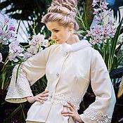 Свадебный салон ручной работы. Ярмарка Мастеров - ручная работа Короткое свадебное пальто. Handmade.