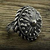"""Кольца ручной работы. Ярмарка Мастеров - ручная работа """"Лада"""" серебряное винтажное кольцо. Handmade."""