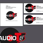 Дизайн и реклама ручной работы. Ярмарка Мастеров - ручная работа логотип и макет конверта для аудиофирмы. Handmade.