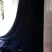 """Одежда ручной работы. Ярмарка Мастеров - ручная работа Юбка гофре """"Синий туман"""" полусолнце. Handmade."""
