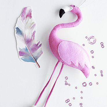 Куклы и игрушки ручной работы. Ярмарка Мастеров - ручная работа Розовый фламинго. Handmade.