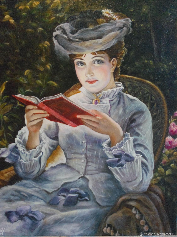 Картина маслом В саду, Картины, Санкт-Петербург,  Фото №1