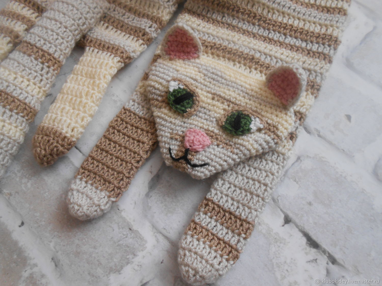 Scarf 'Cat' women's children's, Scarves, Cherepovets,  Фото №1