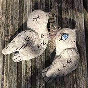 Украшения ручной работы. Ярмарка Мастеров - ручная работа 2 Броши - птицы  счастья,  вышитая брошь войлок, птица брошь. Handmade.