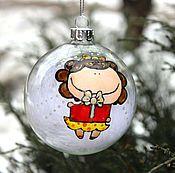 Подарки к праздникам ручной работы. Ярмарка Мастеров - ручная работа Новогодние шары, елочные шары, елочные украшения, роспись шаров. Handmade.