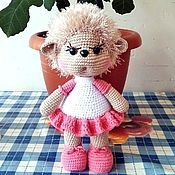 Куклы и игрушки handmade. Livemaster - original item Hedgehog girl in a dress and shoes.. Handmade.