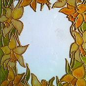 """Сувениры и подарки ручной работы. Ярмарка Мастеров - ручная работа Фоторамка """"Нарциссы"""". Handmade."""