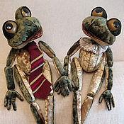 Куклы и игрушки ручной работы. Ярмарка Мастеров - ручная работа Лягушки Глаша и Клео. Handmade.