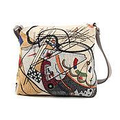 Классическая сумка ручной работы. Ярмарка Мастеров - ручная работа Сумки в ассортименте гобелен/ экокожа. Handmade.