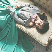 Одежда ручной работы. Ярмарка Мастеров - ручная работа Зеленая юбка-макси.. Handmade.