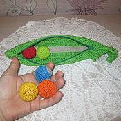 Кукольная еда ручной работы. Ярмарка Мастеров - ручная работа Развивающий горошек. Handmade.