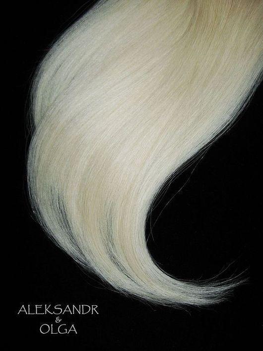 Накладные ПРЯДИ на заколках - постиж - 27,5 см. Светлый блонд. В Наборе - 10 шт. - (6 шт. по 9 см + 4 шт. по 4 см).