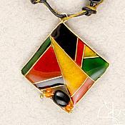 Украшения handmade. Livemaster - original item Bright geometry. Pendant. Handmade.
