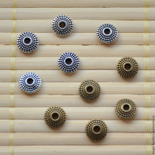 Для украшений ручной работы. Ярмарка Мастеров - ручная работа. Купить Бусина разделительная 8 x 4 мм. Handmade.