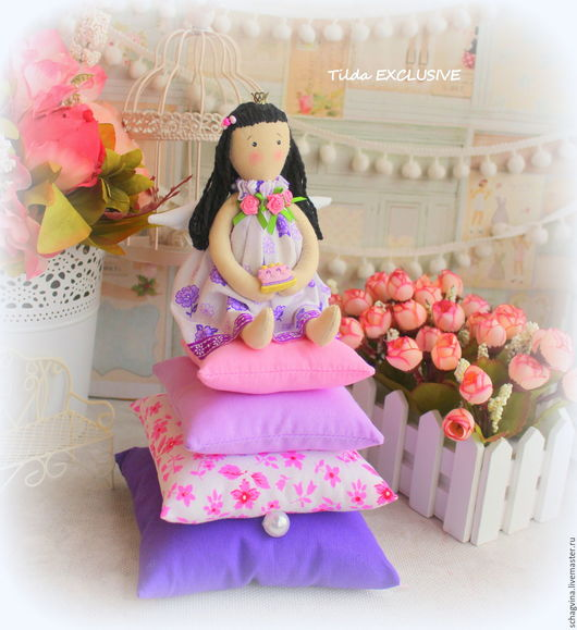 Куклы Тильды ручной работы. Ярмарка Мастеров - ручная работа. Купить Принцесса на горошине Анжелика. Handmade. Комбинированный, ангел тильда