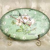 Для дома и интерьера ручной работы. Ярмарка Мастеров - ручная работа часы настенные Бирюзовые. Handmade.