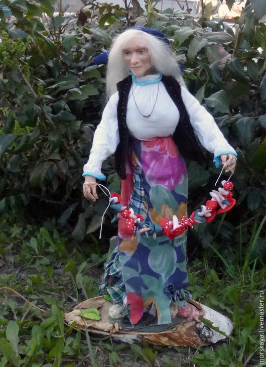 Куклы ручной работы.  Баба Яга на подставке.  Мастерская кукол Катерины Мерзляковой. Ярмарка Мастеров.
