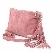 Сумки и аксессуары handmade. Livemaster - original item Crossbody Bag Suede Pink Crossbody Suede. Handmade.