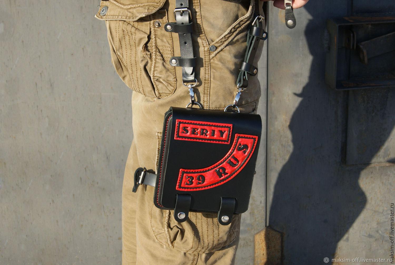 Подсумок на бедро с нашивками от 5200 руб, Классическая сумка, Альметьевск,  Фото №1