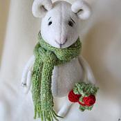 Куклы и игрушки ручной работы. Ярмарка Мастеров - ручная работа Мышь Белая. Handmade.