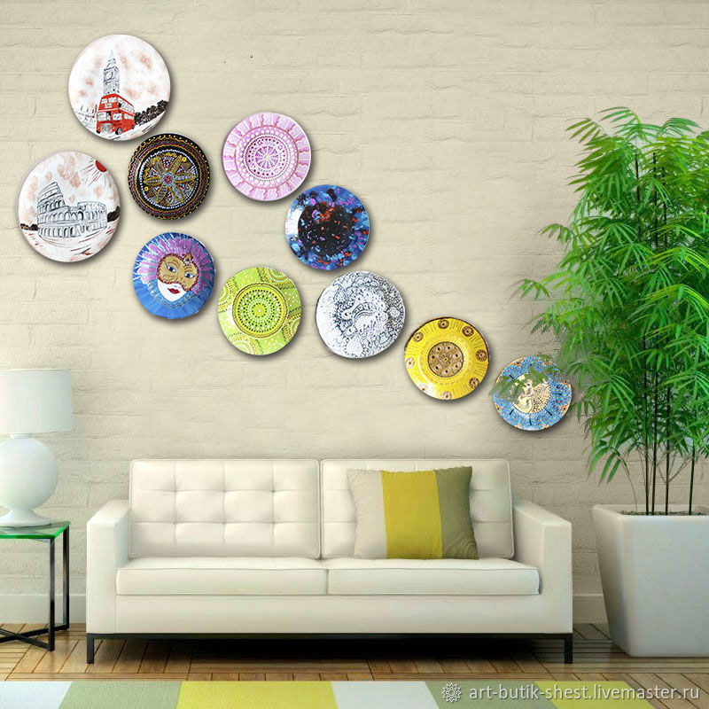 'Such a different and interesting World' Set of 10 plates on the wall, Plates, Krasnodar,  Фото №1