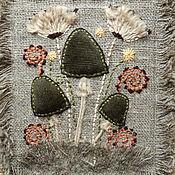 """Картины и панно ручной работы. Ярмарка Мастеров - ручная работа Панно """"Грибочки"""". Handmade."""