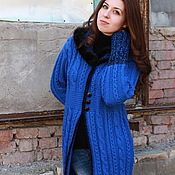 "Одежда handmade. Livemaster - original item Cardigan- coat ""The blue sky"". Handmade."