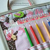 """Работы для детей, ручной работы. Ярмарка Мастеров - ручная работа Папка для рисования """"Девочка"""". Handmade."""