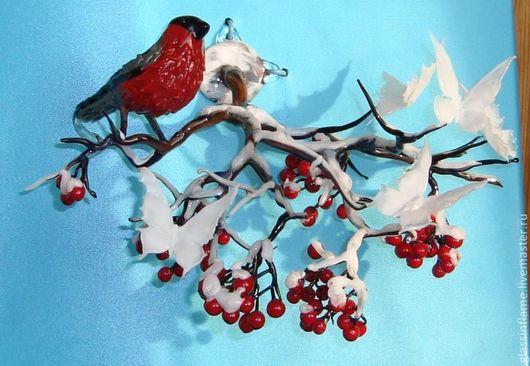 Статуэтки ручной работы. Ярмарка Мастеров - ручная работа. Купить Видение Снегиря. Handmade. Художественное стекло, стеклянная скульптура