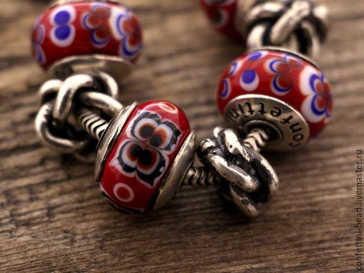 """Браслеты ручной работы. Ярмарка Мастеров - ручная работа. Купить Серия """"Chinoiserie"""" бусина для браслетов. Handmade. Разноцветный, бусина для пандоры"""