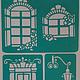 """Декупаж и роспись ручной работы. Ярмарка Мастеров - ручная работа. Купить Трафарет """"Чайный домик"""". Handmade. Трафарет, трафареты"""