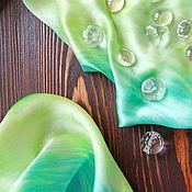 Шарфы ручной работы. Ярмарка Мастеров - ручная работа Атласный шарфик. Handmade.