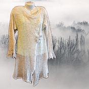 """Одежда ручной работы. Ярмарка Мастеров - ручная работа Кардиган из кид-мохера """"Туманная дымка"""". Handmade."""