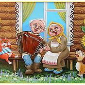 Картины и панно ручной работы. Ярмарка Мастеров - ручная работа На завалинке. Handmade.