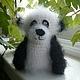 Игрушки животные, ручной работы. Ярмарка Мастеров - ручная работа. Купить Вязаная панда Малышок. Handmade. Панда, пандочка, бусинки