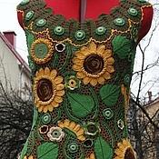 """Одежда ручной работы. Ярмарка Мастеров - ручная работа Платье """" Подсолнухи"""" .. Handmade."""