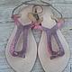 Обувь ручной работы. Ярмарка Мастеров - ручная работа. Купить Сандалии из кожи змеи. Handmade. Разноцветный, сандалии из кожи