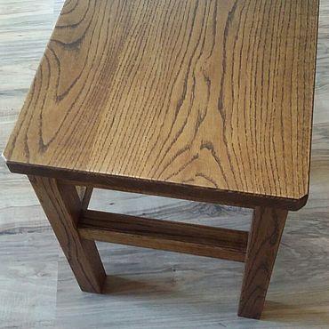 Мебель ручной работы. Ярмарка Мастеров - ручная работа Табурет дубовый с качественной отделкой. Handmade.