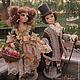 Коллекционные куклы ручной работы. Ярмарка Мастеров - ручная работа. Купить Цветочница Софи)). Handmade. Бледно-розовый, интерьерная кукла